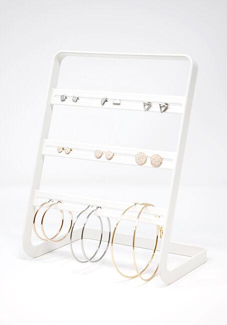 Women's 9 Pair Hoops & Studs Earring Set