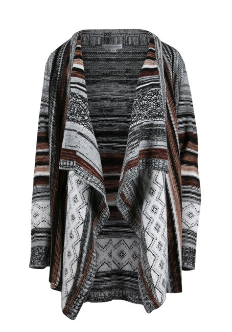 Ladies' Multi Stripe Cardigan