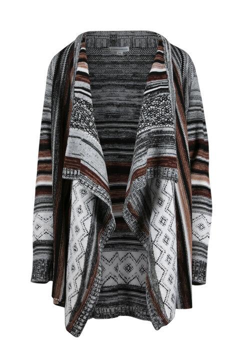 Ladies' Multi Stripe Cardigan, MULTI, hi-res