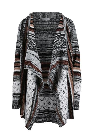 Women's Multi Stripe Cardigan, MULTI, hi-res