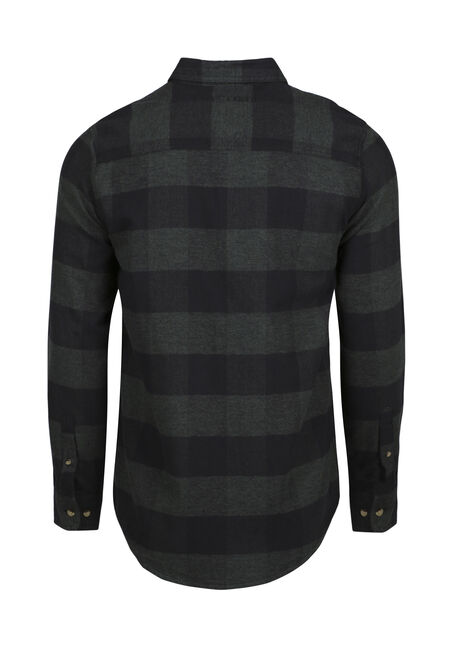 Men's Buffalo Plaid Flannel Shirt, FOREST GREEN, hi-res