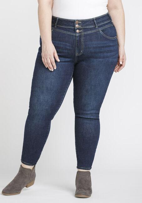 Women's Plus Size Stacked Waist Skinny Jeans