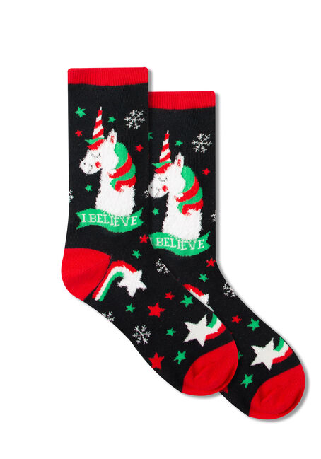 Women's Holiday Unicorn Crew Socks