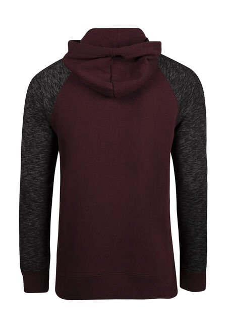 Men's Colour Block Popover Hoodie, FIG, hi-res