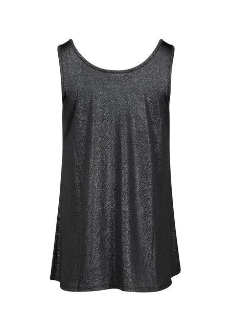 Women's Shimmer Tank, BLACK, hi-res