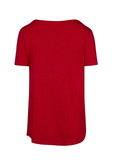Women's Speckle V-neck Tee, RED SEA, hi-res