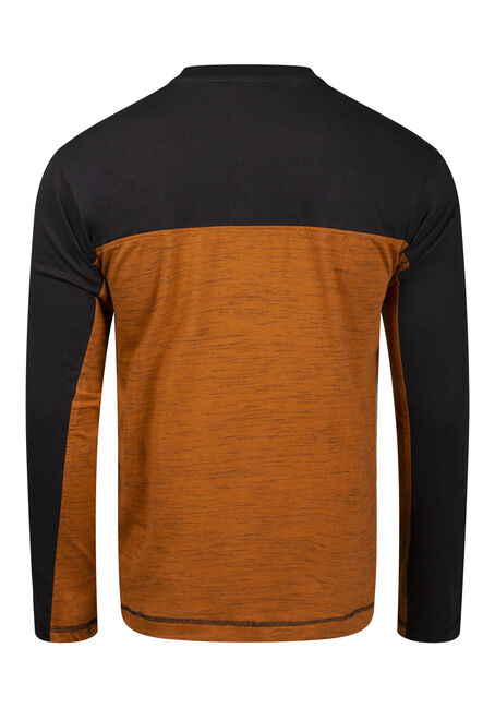 Men's Colour Block Henley, BASIN, hi-res