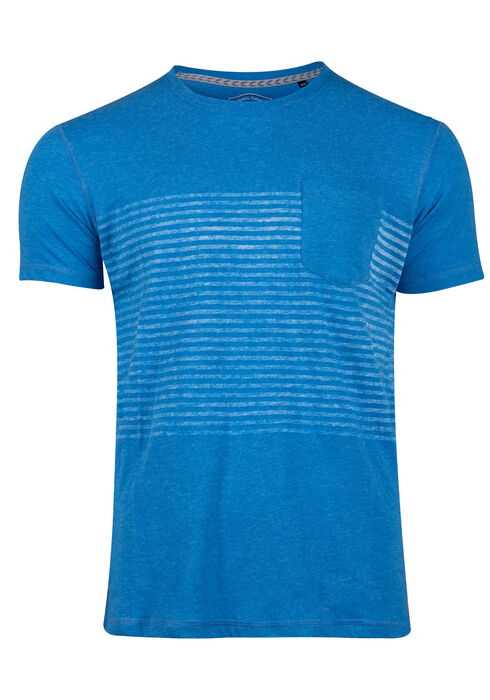 Men's Striped Tee, FRENCH BLUE, hi-res