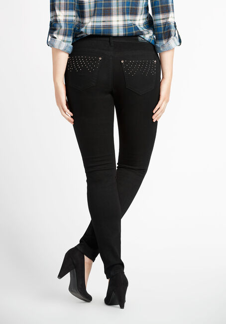 Ladies' Premium Skinny Jeans, BLACK, hi-res