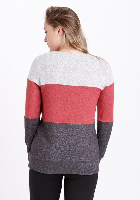Women's Colour Block Tunic, SANGRIA, hi-res
