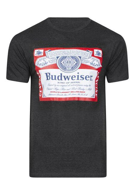 Men's Budweiser Tee, DARK HEATHER, hi-res