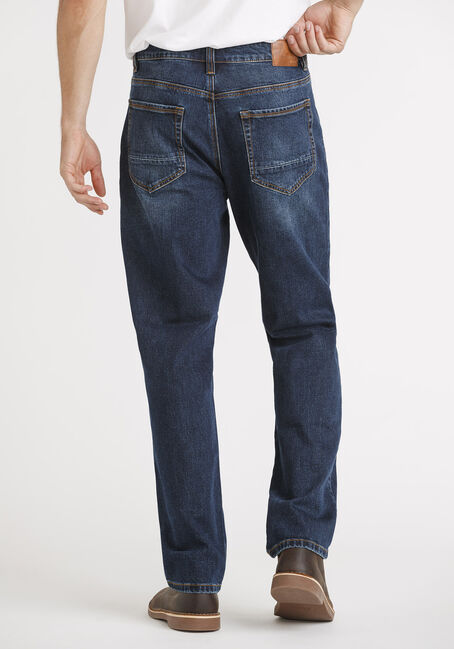 Men's Indigo Relaxed Straight Jeans, DARK WASH, hi-res