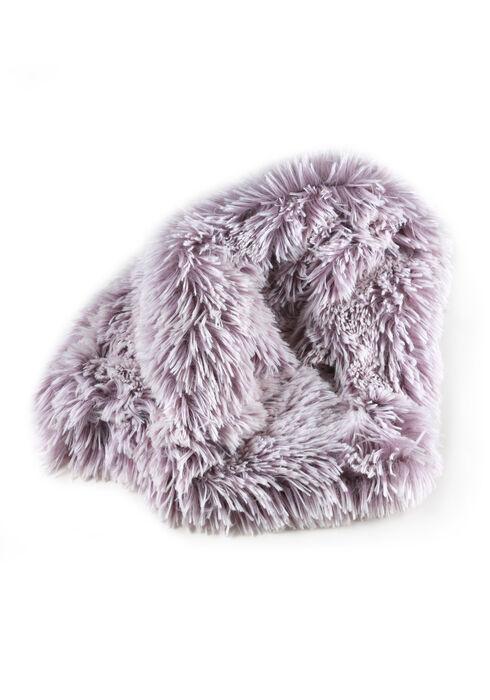 Women's Faux Fur Infinity Scarf, LILAC, hi-res