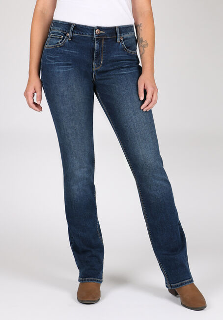 Women's Indigo Wash High Rise Straight Jeans
