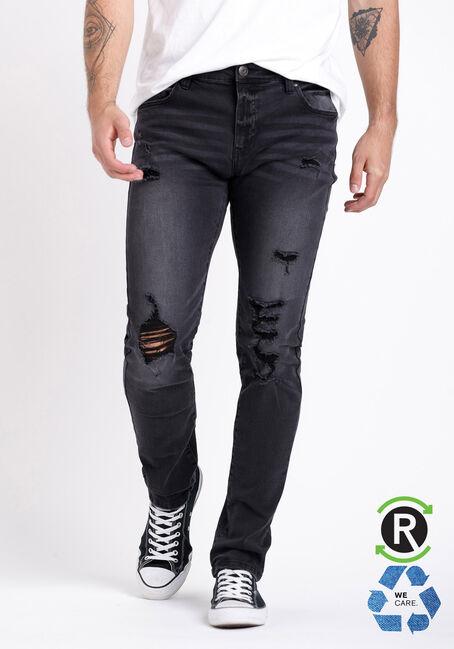 Men's Destroyed Washed Skinny Jeans