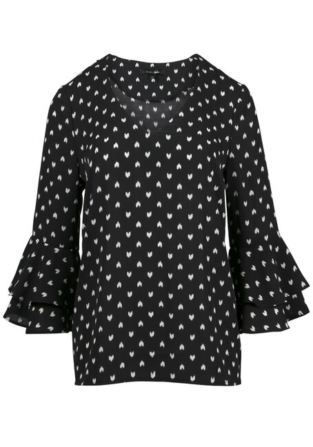 Ladies' Heart Print Blouse