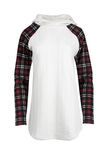 Women's Plaid Baseball Hoodie