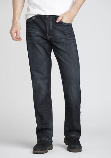 Men's Loose Fit Jeans, DARK WASH, hi-res