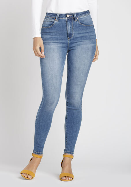 Ladies' Super High Waist Skinny Jeans