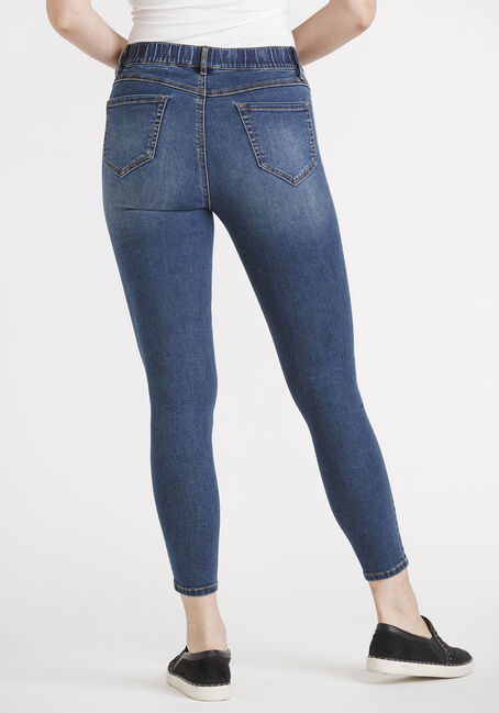 "Women's Pull-on Skinny Jeans 29"", MEDIUM WASH, hi-res"