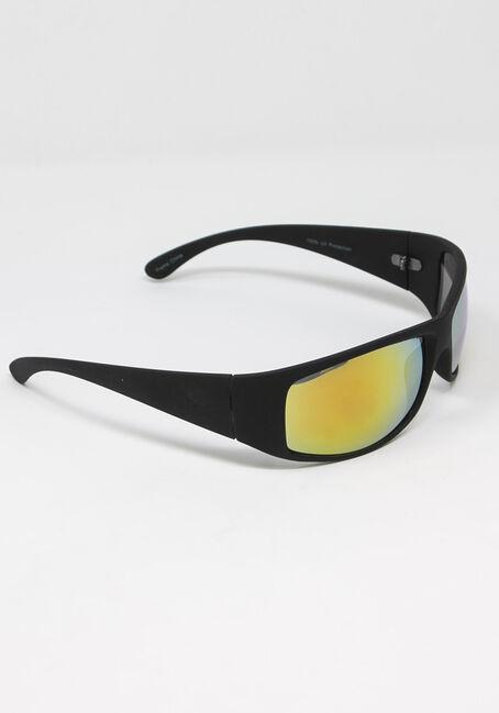 Men's Mirror Lens Sunglasses, BLACK, hi-res
