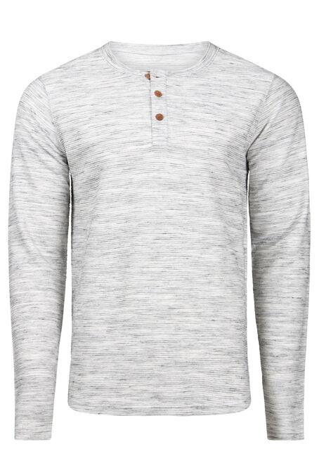 Men's Henley Rib Knit Sweater