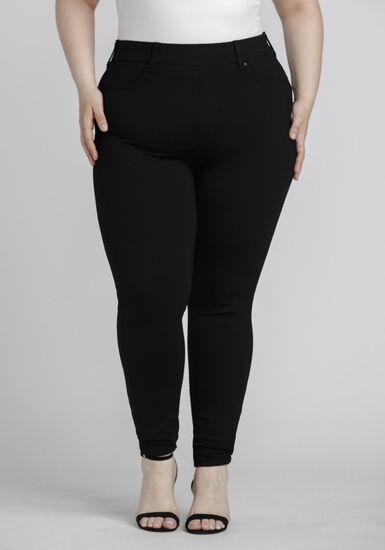 Women's Plus Size Pull On Skinny Pant, BLACK, hi-res