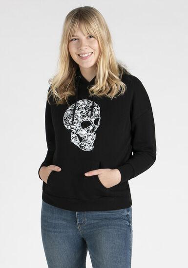 Women's Pop over hoodie, BLACK, hi-res