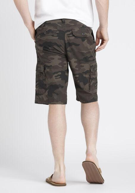 Men's Camo Cargo Short, DARK OLIVE, hi-res