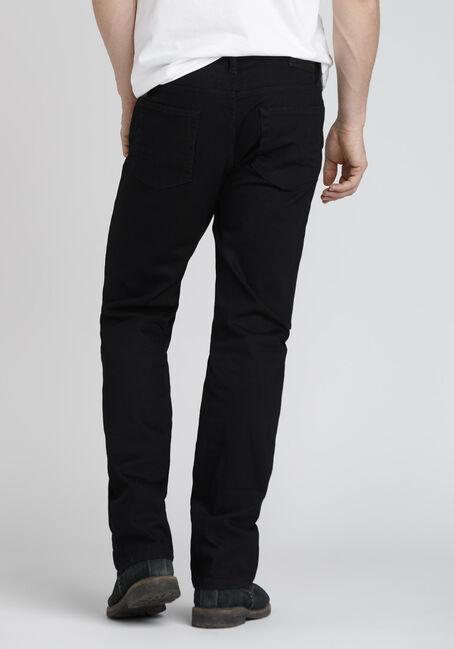 Men's Slim Straight Jeans, BLACK, hi-res