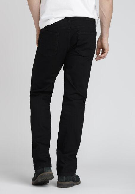 Men's Slim Straight Jeans, BLACK, hi-res