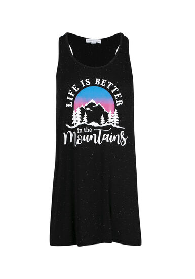 Women's Life Is Better In The Mountains Tank, BLACK, hi-res