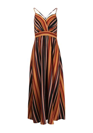 Women's Stripe Maxi Dress, RUST COMBO, hi-res