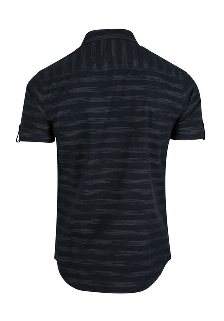 Men's Stripe Shirt, NAVY, hi-res