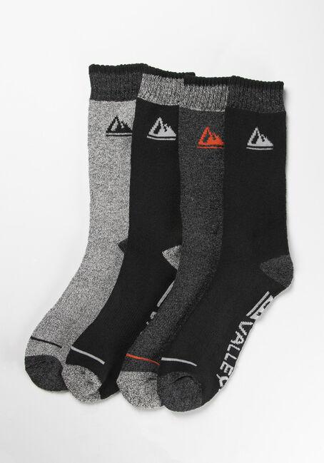 Men's Storm Valley Boot Socks, BLACK, hi-res