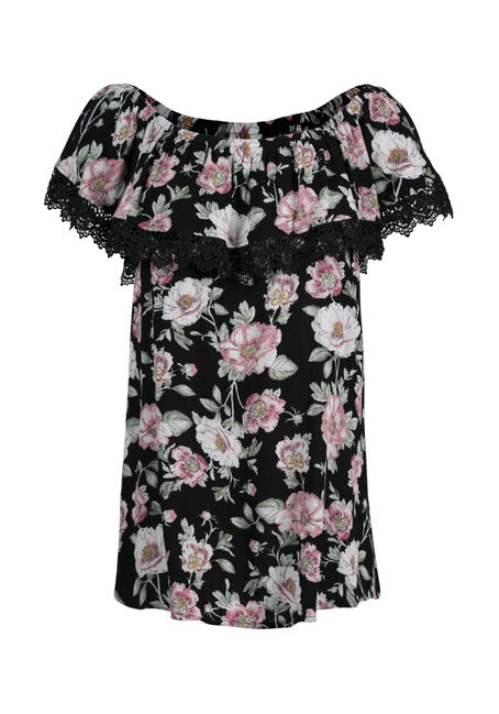 Women's Floral Bardot Top