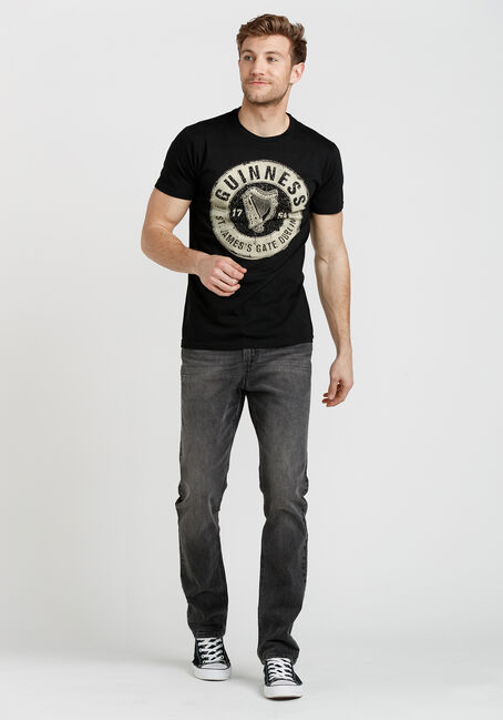 Men's Guinness Logo Tee, BLACK, hi-res
