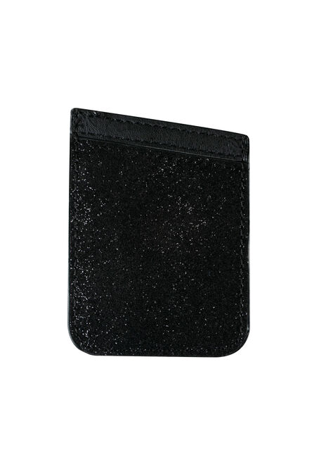 Ladies' Phone Card Holder, BLACK, hi-res