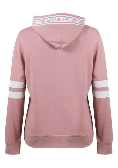 Ladies' Plus Size Love Football Hoodie, MAUVE PINK, hi-res