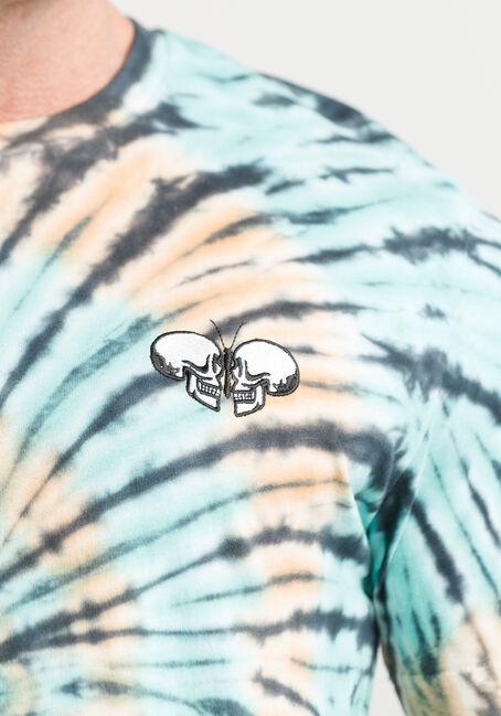 Men's Tie Dye Butterfly Skull Tee, TAN, hi-res