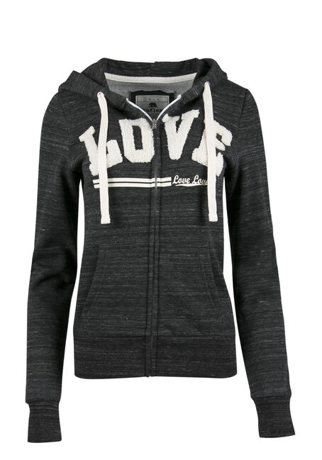 Ladies' Love Zip Front Hoodie