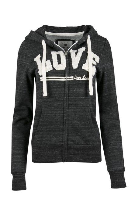Ladies' Love Zip Front Hoodie