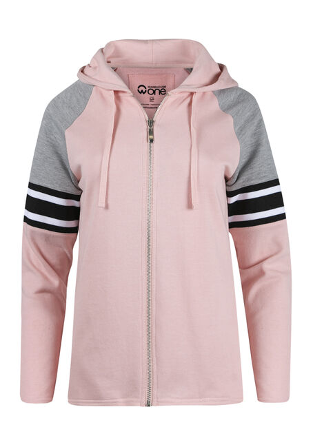 Ladies' Zip Front Football Hoodie