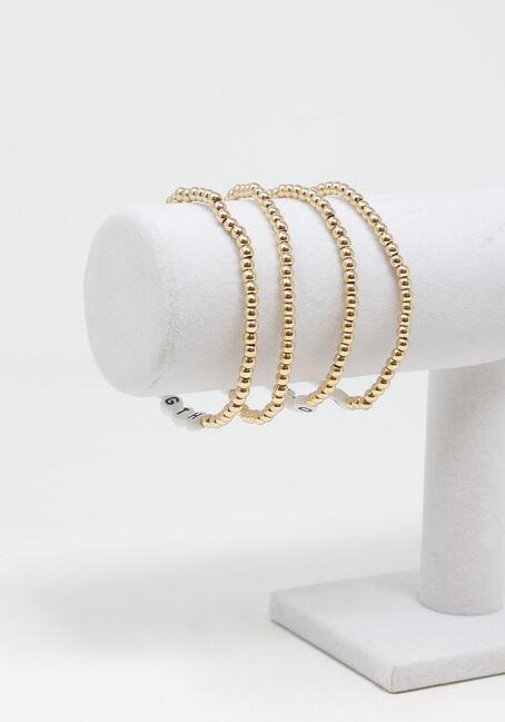 Women's stretch bracelet, GOLD, hi-res