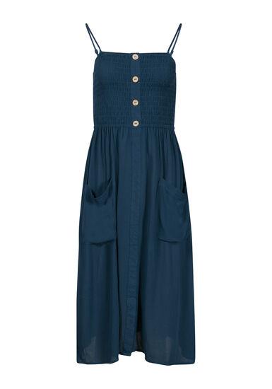 Women's Midi Dress, TEAL, hi-res