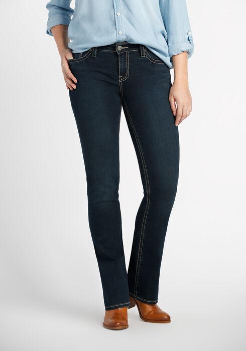 Ladies' Contour Boot Dark Jeans, DARK WASH, hi-res