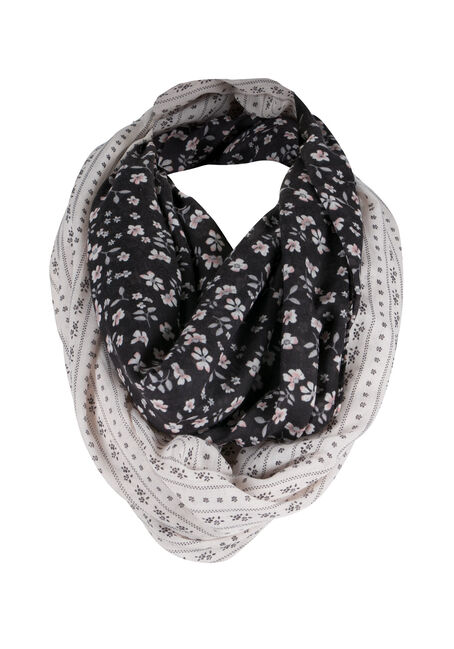 Ladies' Border Print Infinity Scarf