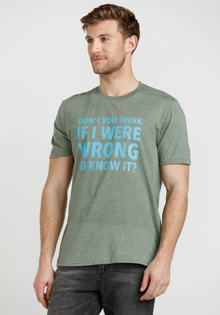 Men's If I Were Wrong I'd Know It Tee