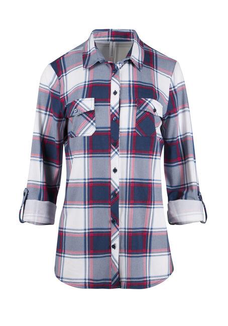 Ladies' Relaxed Knit Plaid Shirt