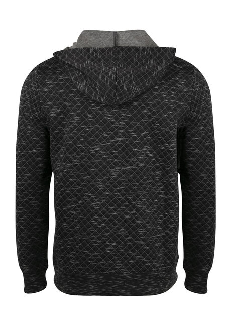 Men's Quilted Space Dye Hoodie, CHARCOAL, hi-res